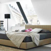 вариант светлого стиля изголовья кровати фото
