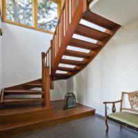 вариант красивого дизайна лестницы фото