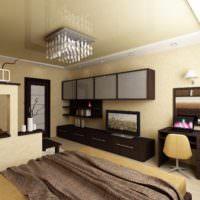пример необычного украшения стиля стен в спальне фото