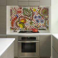 пример светлой поделки для стиля кухни картинка