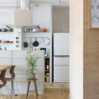 идея применения перегородки в интерьере дома фото