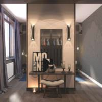 вариант использования перегородки в декоре квартиры картинка