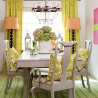 пример сочетания красивого персикового цвета в декоре квартиры фото