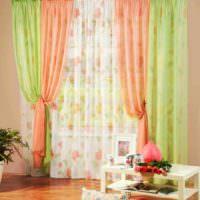 идея сочетания светлого персикового цвета в декоре квартиры фото
