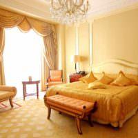 вариант сочетания светлого персикового цвета в дизайне квартиры фото