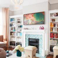 идея сочетания красивого персикового цвета в интерьере квартиры фото