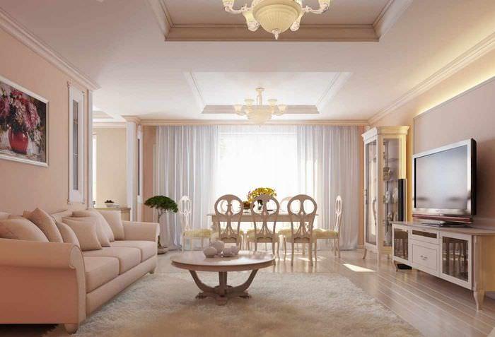 идея сочетания красивого персикового цвета в декоре квартиры