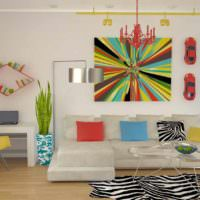 пример необычного декора комнаты в стиле поп арт картинка