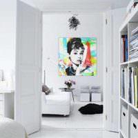 пример светлого дизайна квартиры в стиле поп арт картинка