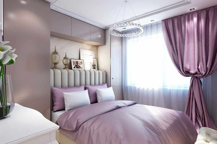 пример светлого дизайна спальни
