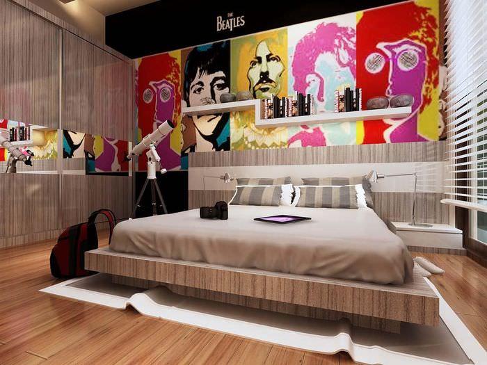 вариант красивого интерьера квартиры в стиле поп арт