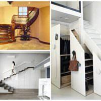 идея светлого интерьера лестницы картинка