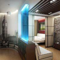 пример яркого дизайна гостиной 20 метров картинка
