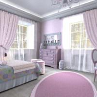 пример необычного стиля спальни для девочки фото