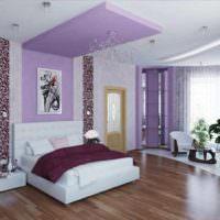 вариант необычного стиля спальной комнаты картинка