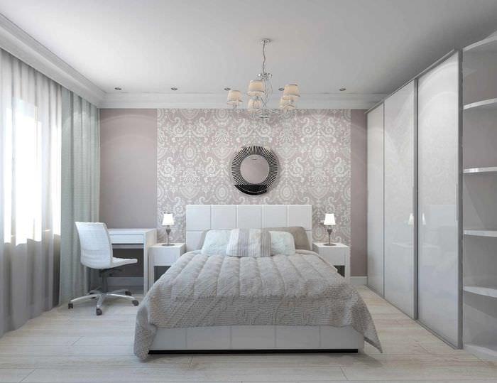 вариант красивого проекта интерьера спальни