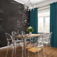 пример необычного проекта стиля столовой фото