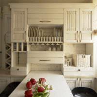 вариант яркого проекта интерьера кухни картинка