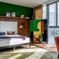 пример светлого проекта стиля спальни фото