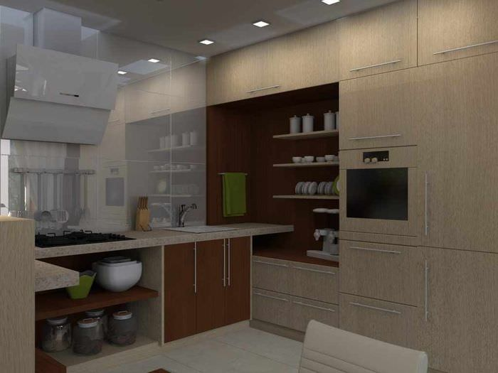 пример необычного проекта стиля кухни