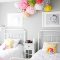 вариант красивого дизайна детской комнаты для девочки картинка