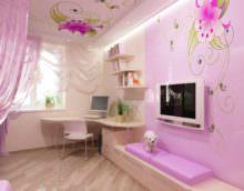 пример светлого стиля спальни для девочки картинка