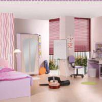 пример яркого дизайна спальни фото