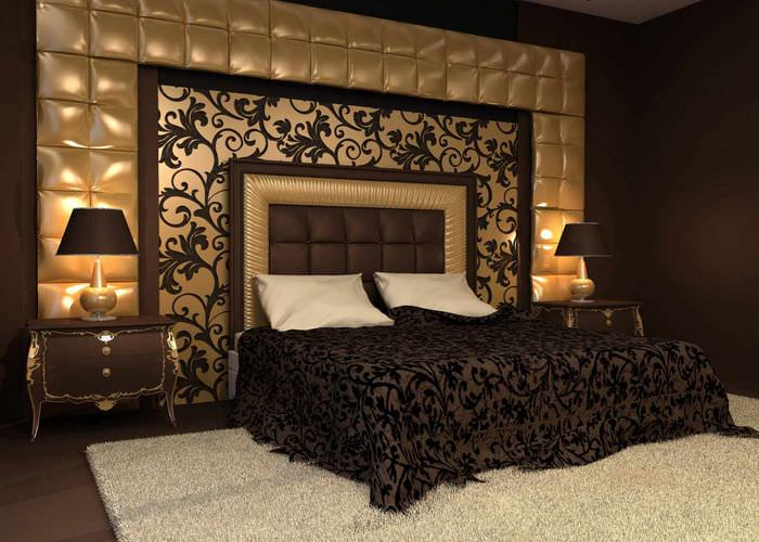 пример светлого оформления дизайна стен в спальне