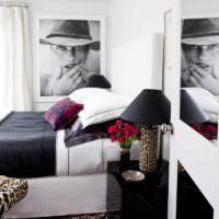идея яркого оформления декора стен в спальне картинка