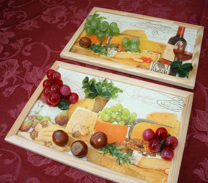 вариант необычной поделки для дизайна кухни