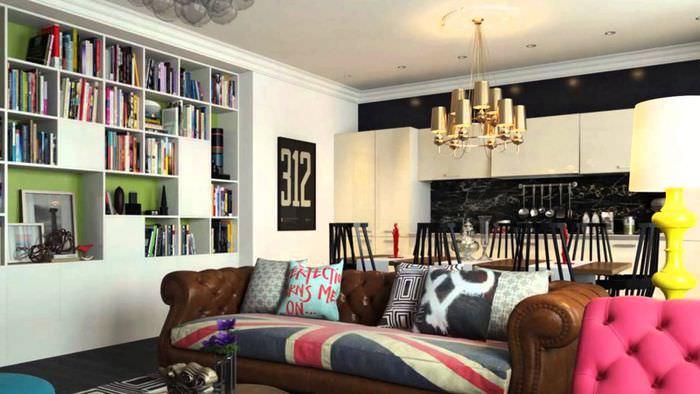 пример необычного дизайна дома в стиле поп арт