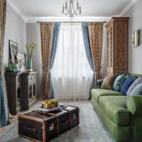 пример яркого интерьера гостиной картинка