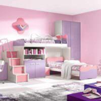 вариант светлого дизайна спальной комнаты картинка