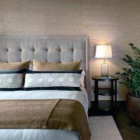 идея красивого стиля изголовья кровати картинка