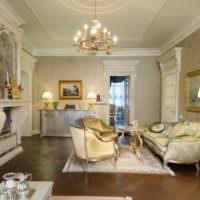 вариант красивого интерьера проходной гостиной фото