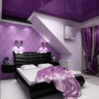 вариант яркого дизайна спальной комнаты картинка