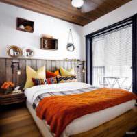идея красивого украшения стиля стен в спальне картинка