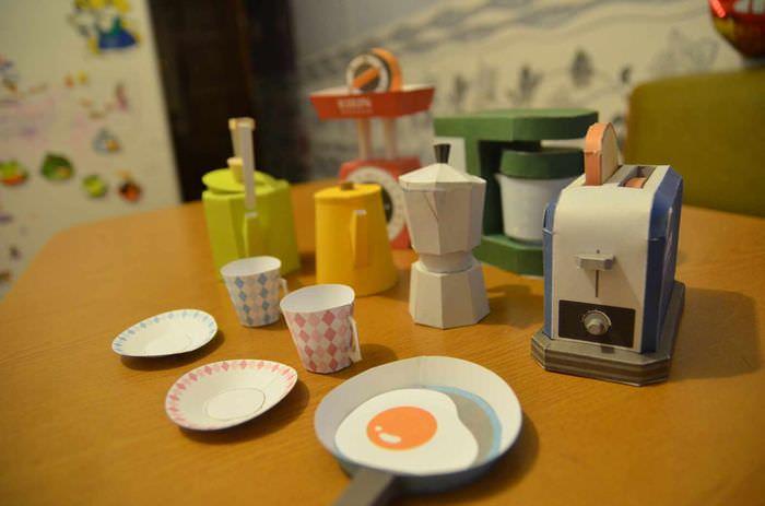 пример светлой поделки для интерьера кухни