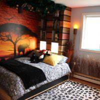 Темные фотообои в дизайне спальни