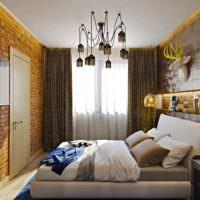 Золотые оттенки в интерьере спальни 12 кв метров