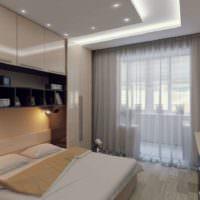 Подсветка изголовья кровати в маленькой спальне 12 кв м