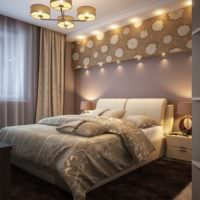Дизайнерское освещение спальни 12 кв метров