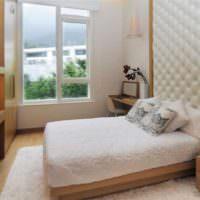 Дизайн спальни 12 кв метров в кремовом цвете