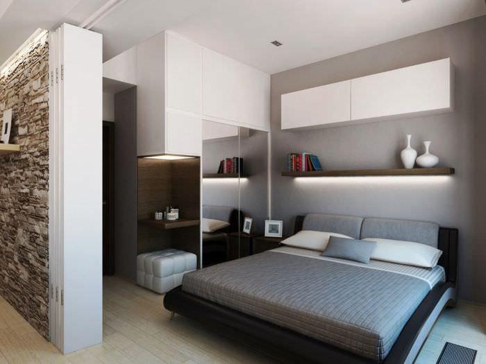 Спальня 12 квадратных метров в квартире-студии