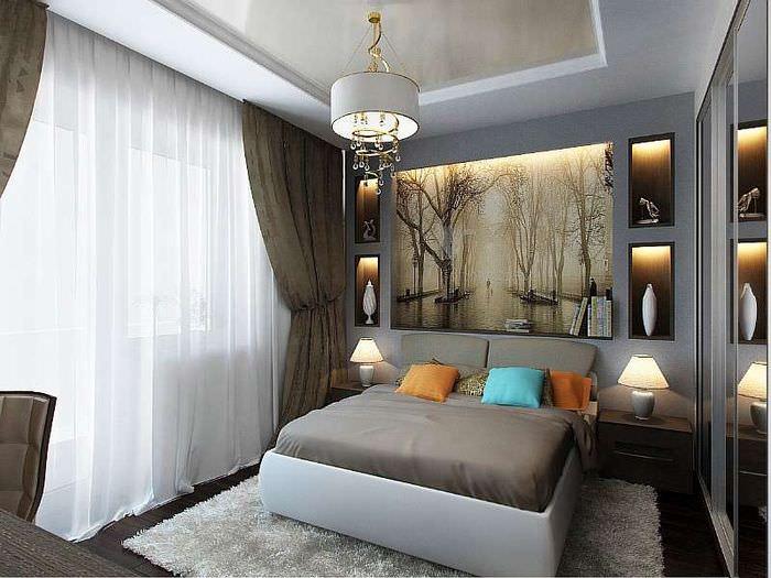 Интерьер спальни 12 кв м в многоэтажном панельном доме