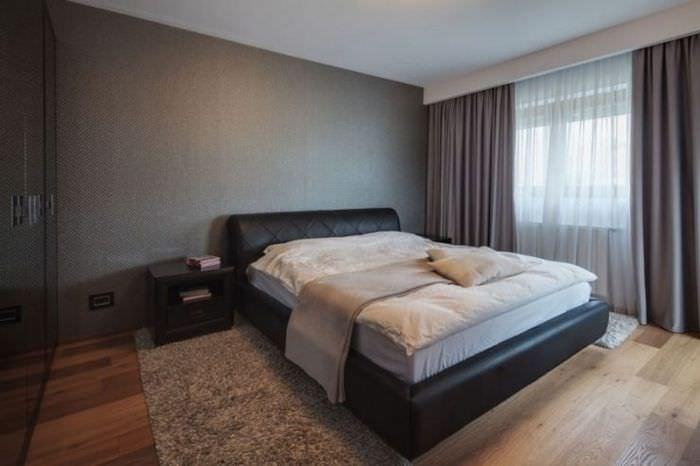 Интерьер спальни 12 кв метров в холодных тонах