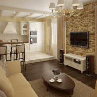 пример использования перегородки в дизайне дома картинка