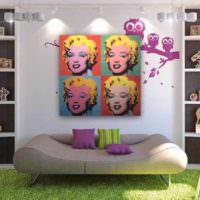 идея необычного декора комнаты в стиле поп арт картинка