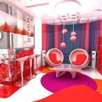 вариант красивого дизайна квартиры в стиле поп арт фото