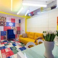 пример светлого интерьера дома в стиле поп арт фото